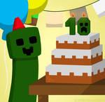 Minecraft 10th anniversary! by Mika-Haruka310