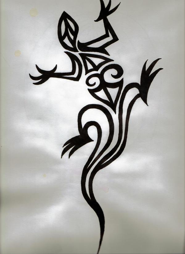 tribal lizard by loveisextynct on deviantart