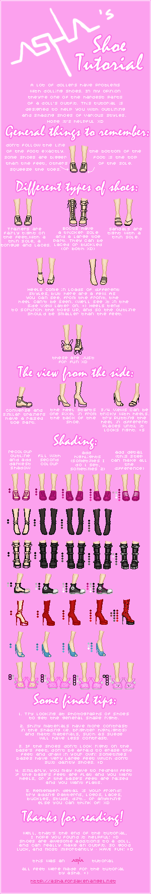 Asha's Shoe Tutorial by Icecradle