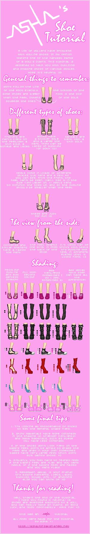 Asha's Shoe Tutorial by Icecradle