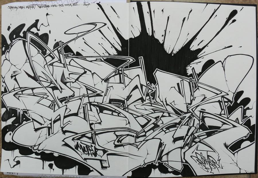 Mad Wildstyle Graffiti Alphabet Radikal By Seizou