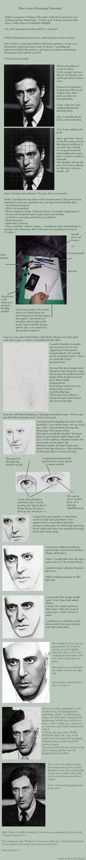 Drawing Portraits Tutorial by Tiofrean