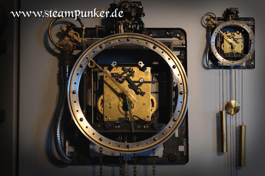 Steampunk Wanduhr Wall Clock By Steamworker On Deviantart