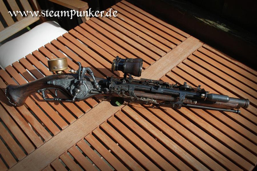 Steampunk gun raygun - Pistole by steamworker