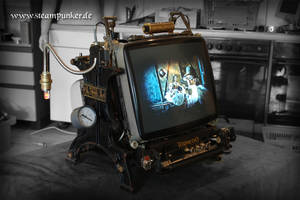 Steampunker - steampunk pc monitor, display 03 by steamworker