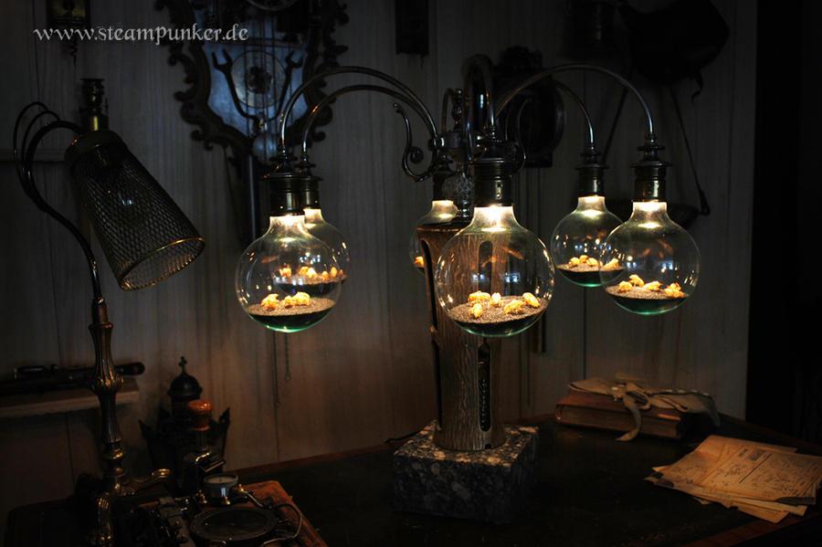 Steampunk Lamp By Steamworker On Deviantart