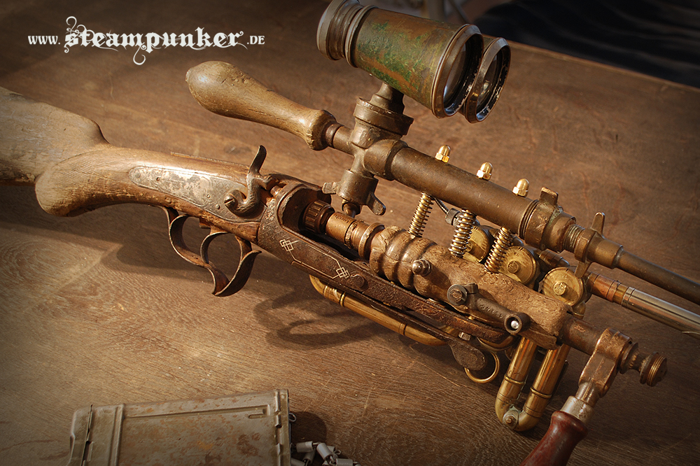 Steampunk Rifle - Ghost Hunter by steamworker