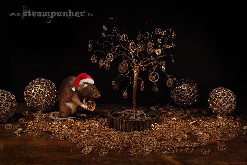 Steampunk Christmas by steamworker