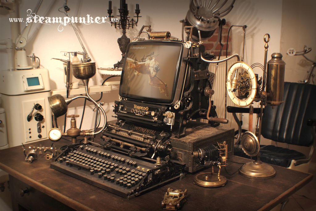 Steampunk Computer By Steamworker On Deviantart