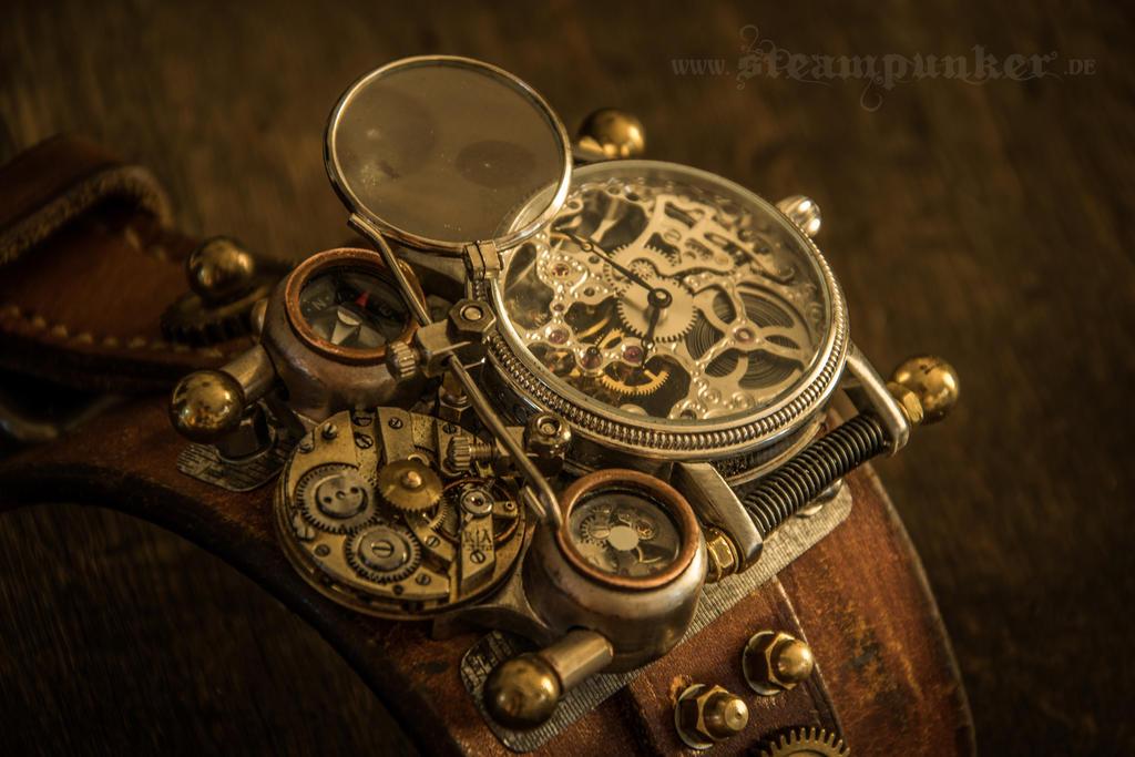 Steampunk watch - time machine III by steamworker