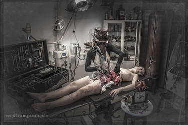 at the plague doctors examination table... by steamworker