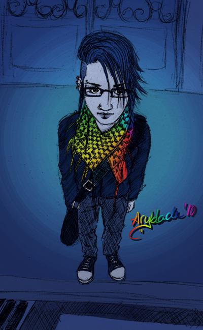 Street girl by Aryblack