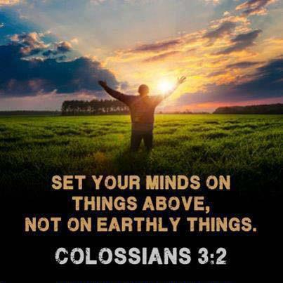 Image result for colossians 3:2