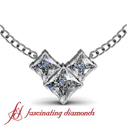 V shaped connected princess cut diamond pendant in by v shaped connected princess cut diamond pendant in by fascinatingdiamonds aloadofball Images