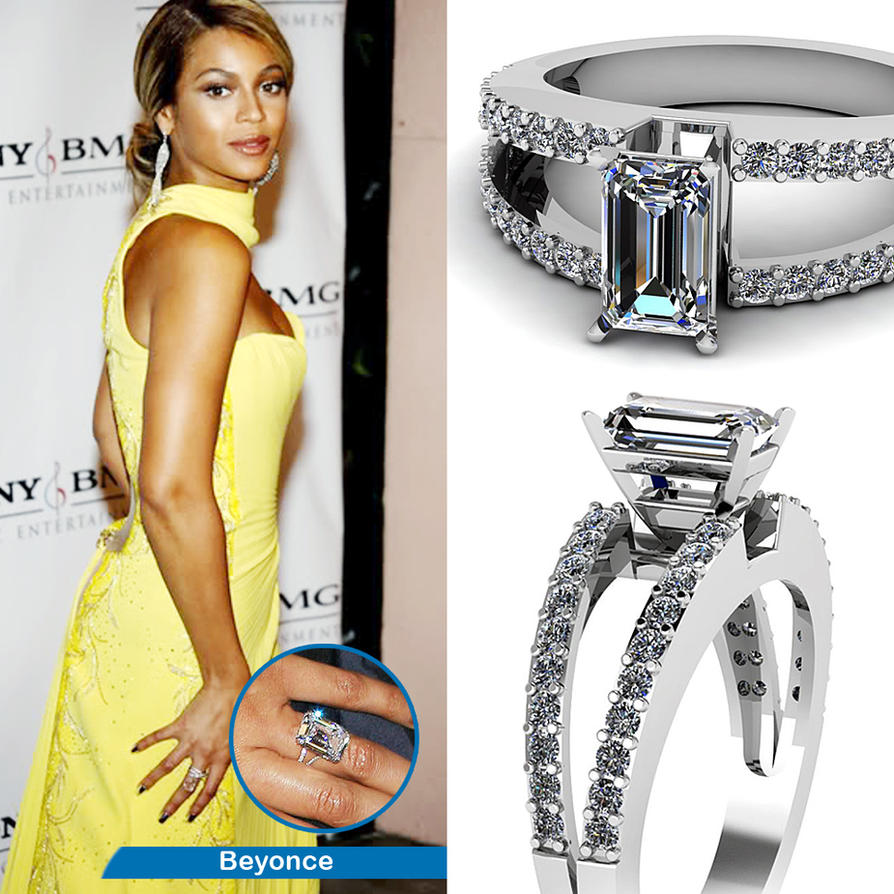 Beyonce's Engagement Ring Look A Like By
