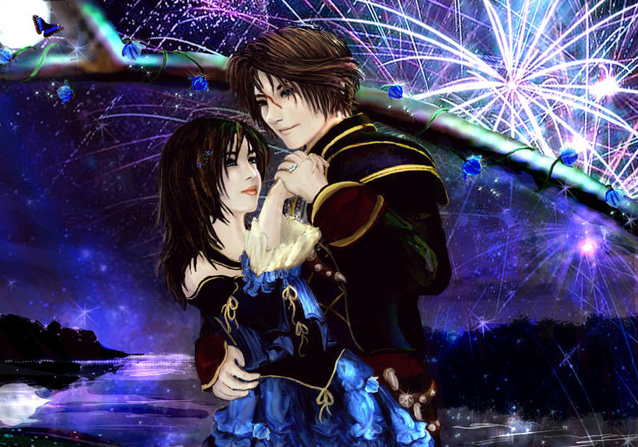 Squall and rinoa by aerisgainsley on deviantart for Final fantasy 8 architecture