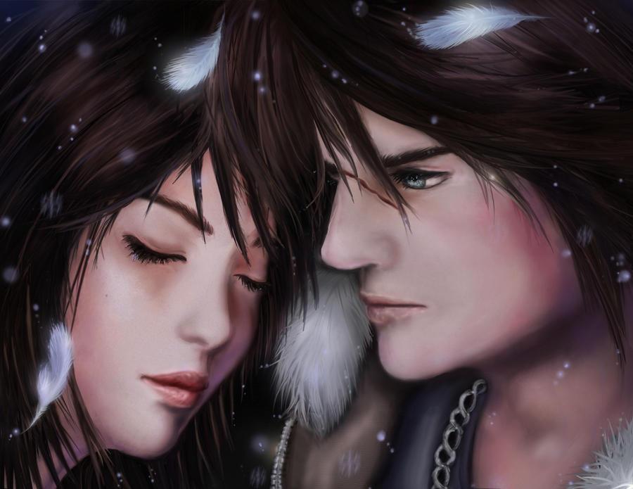 Squall + Rinoa by AerisGainsley