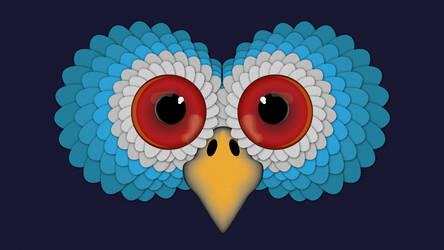 Owls face by Sicaida