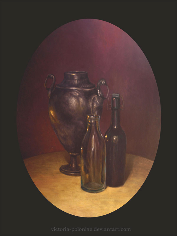 Oval still life by Victoria-Poloniae
