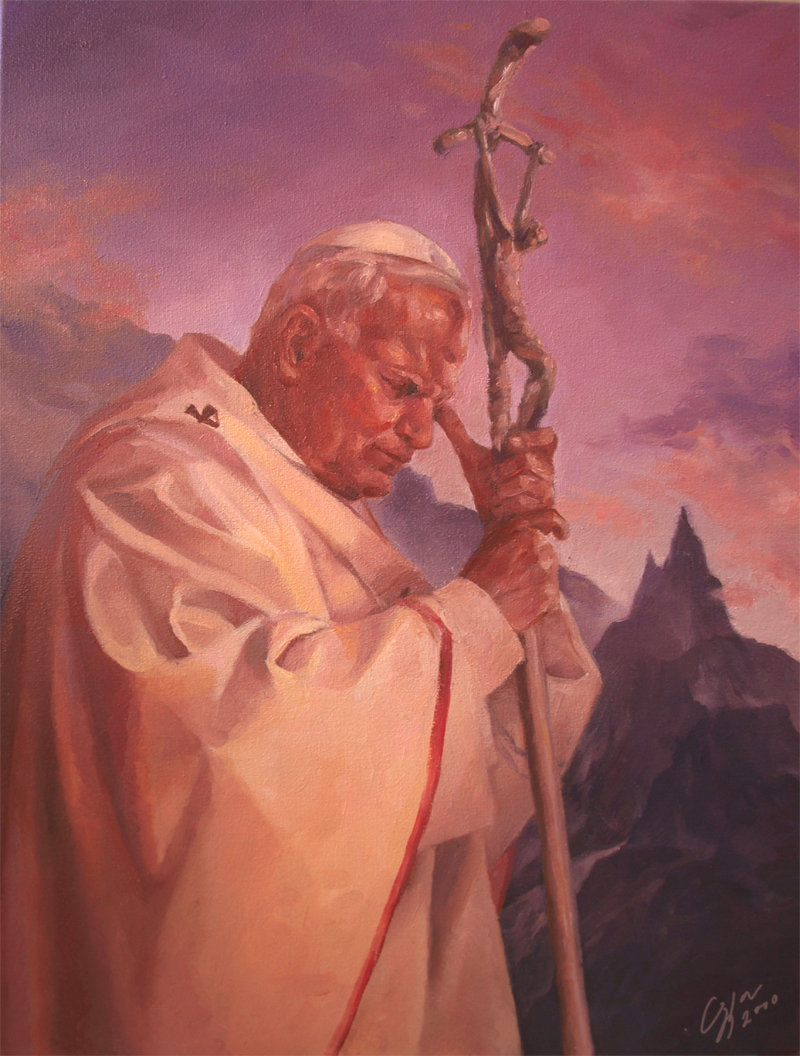 Pope John Paul II by Victoria-Poloniae