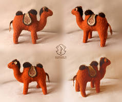 Retro stuffed camel. Primitive style 1915 by Victoria-Poloniae