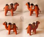 Retro stuffed camel. Primitive style 1915