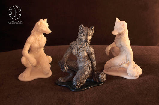 Anthro female wolf sculpture (group photo)
