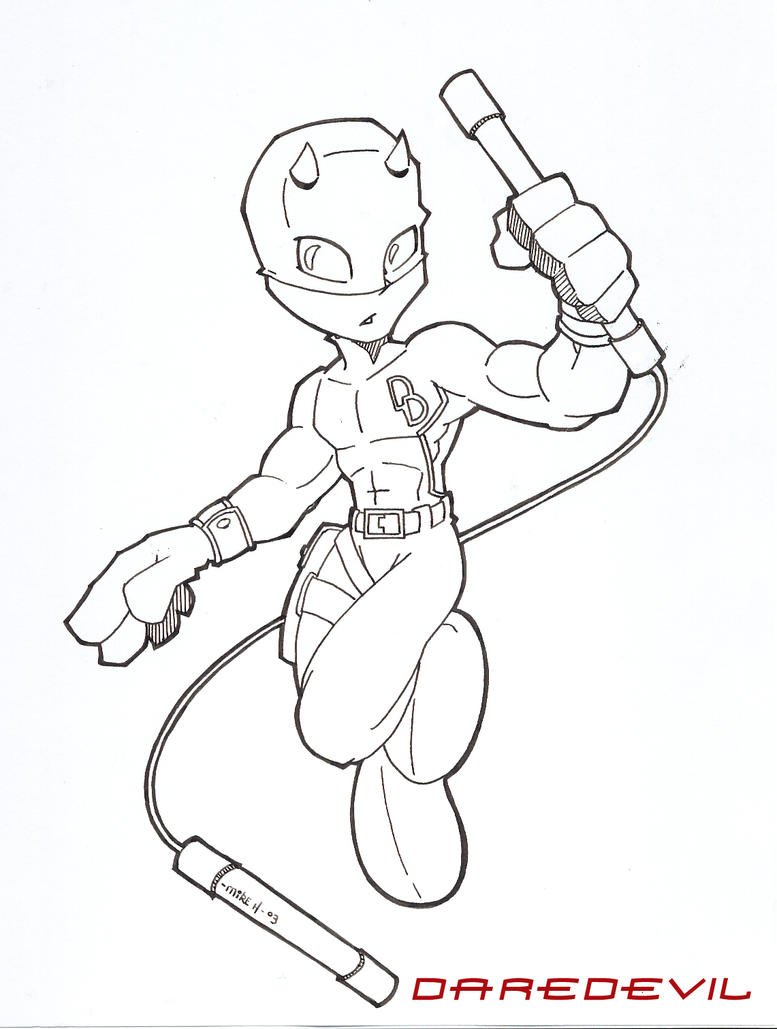 How To Draw Daredevil Daredevil Coloring Pages
