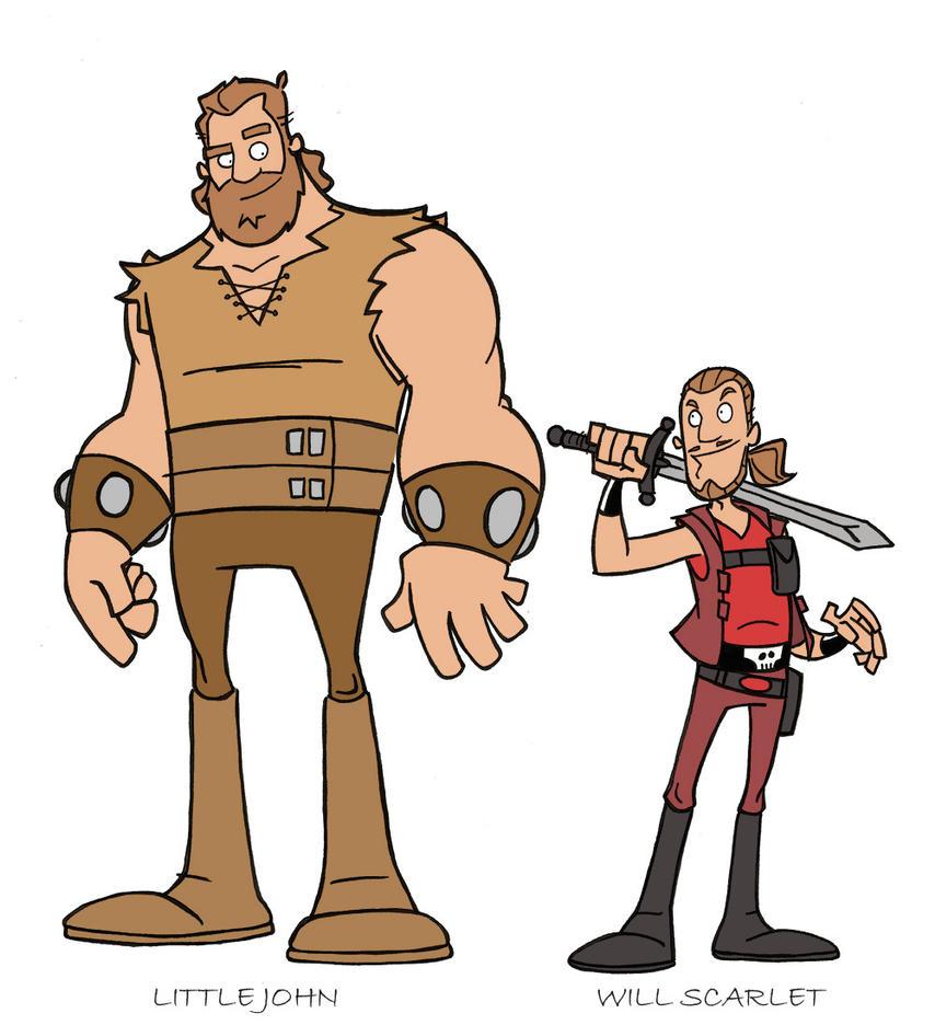 Little John and Will Scarlett by tyrannus