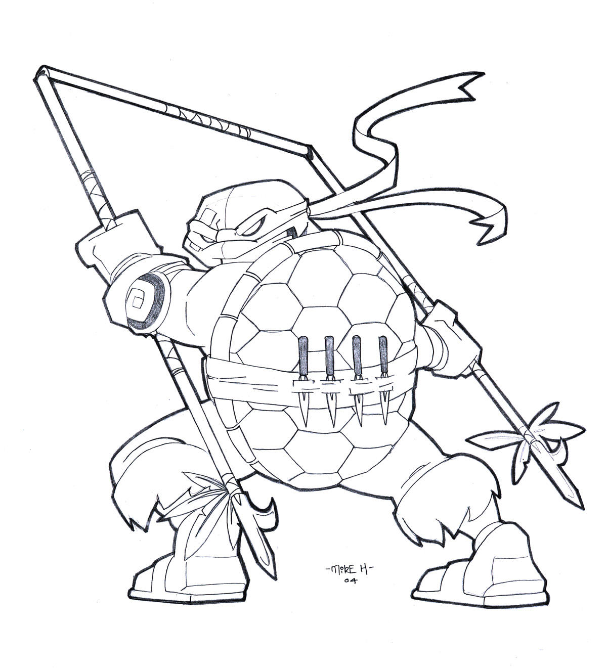 salvador the 5th ninja turtle by tyrannus on deviantart