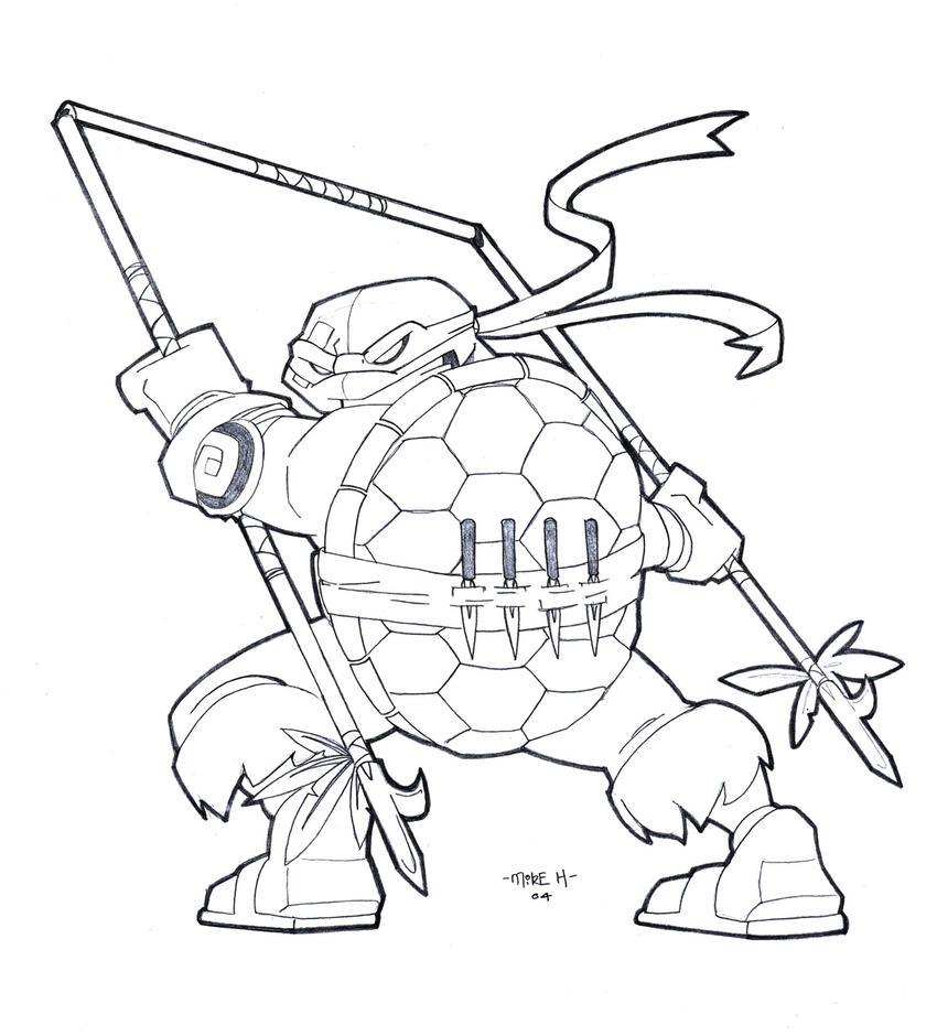 Salvador the 5th Ninja Turtle by tyrannus