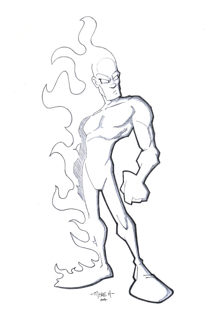 the human torch coloring pages - photo#10