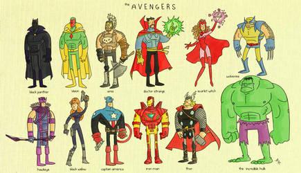 The Avengers by tyrannus