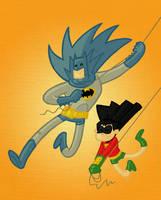 Batman and Robin by tyrannus