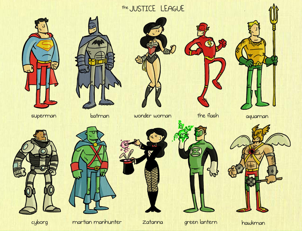 The Justice League by tyrannus