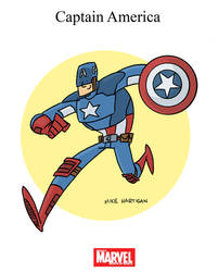 Mighty Marvel Month of March - Captain America by tyrannus