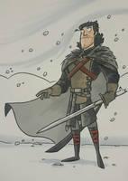 Jon Snow - marker sketch by tyrannus