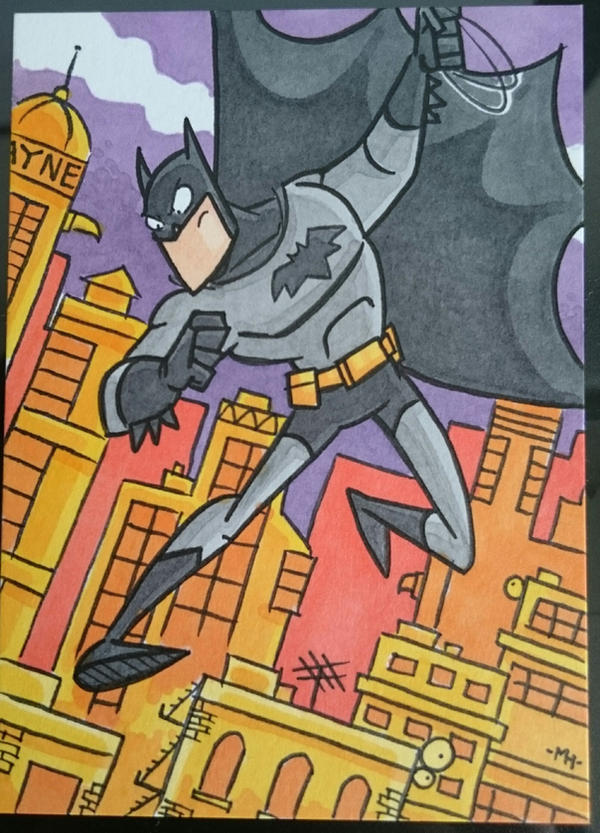 batman sketch card commission by tyrannus