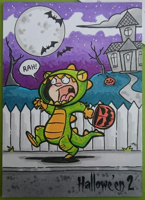 Trick or Treat sketch card by tyrannus