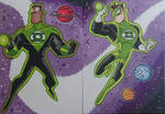 GREEN LANTERNS sketch card