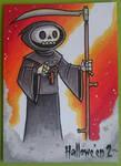 Halloween 2 Sketch Card - Grim Reaper