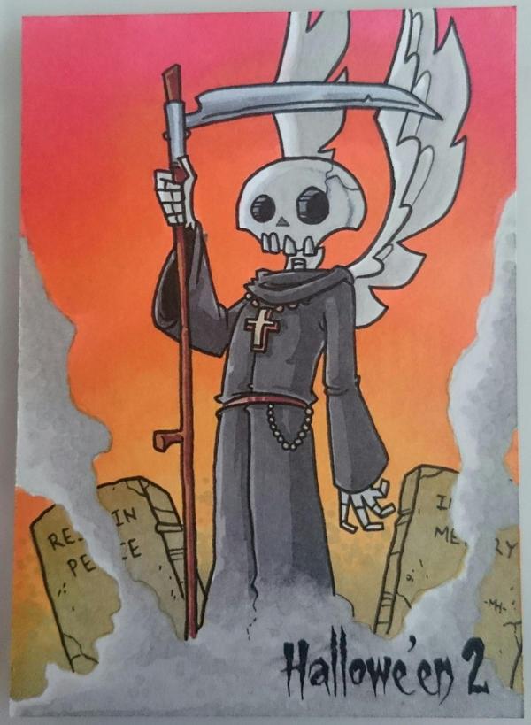 grim reaper sketch card by tyrannus