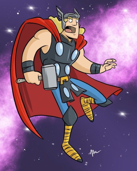Thor in Space! by tyrannus