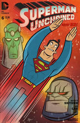 Superman - digital sketch cover by tyrannus