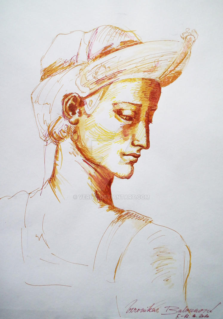 Sketch of Michelangelo by verive