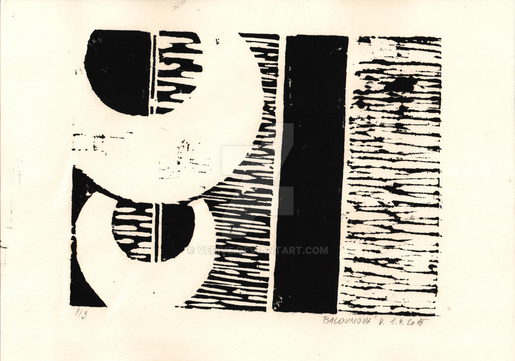 circles - wood engraving by verive