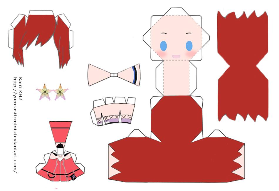 Chibi Kairi Papercraft by YumtasticMint