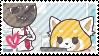 Haida x Retsuko stamp by XxTove-Love99xX