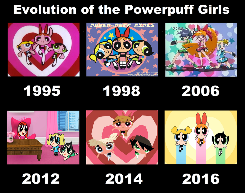 Evolution Of The Powerpuff Girls By 3d4d On Deviantart