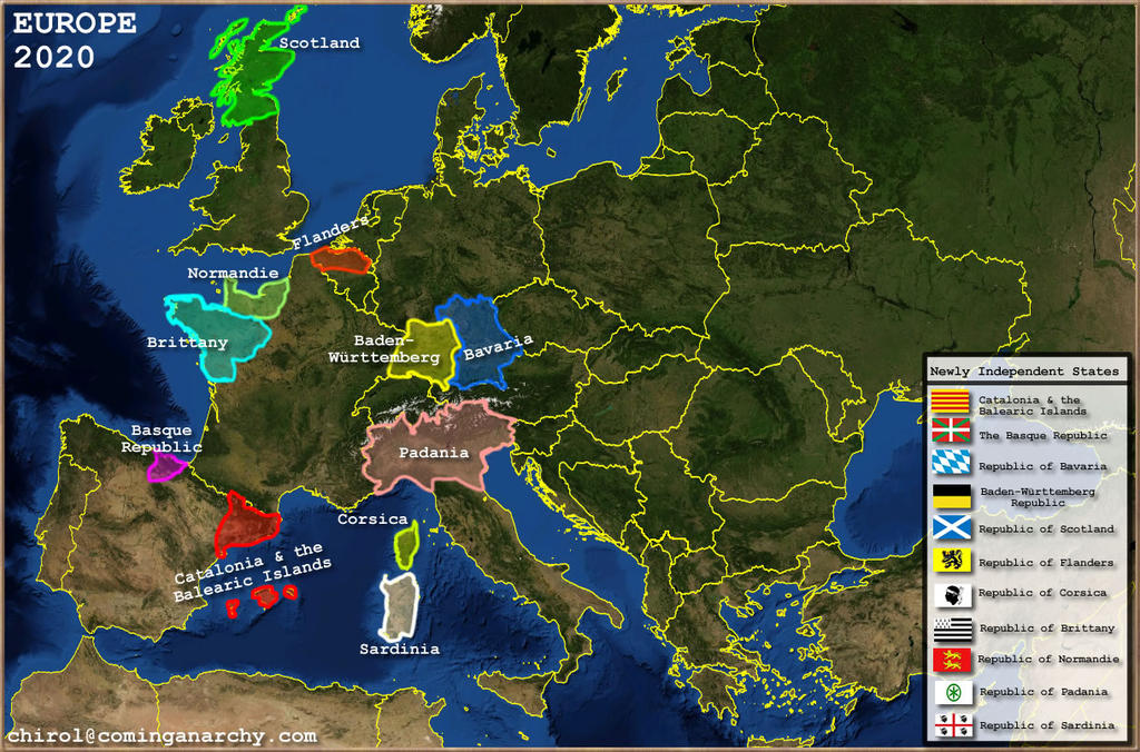 Europe Map 2020 by 3D4D